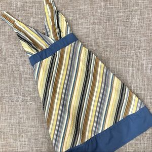 Patagonia stripe cotton dress blue ties 4 organic